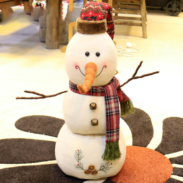 Christmas 2017 Linen Snowman Dolls Ornament Table Desk Decoration Christmas Gifts for Kids - 9