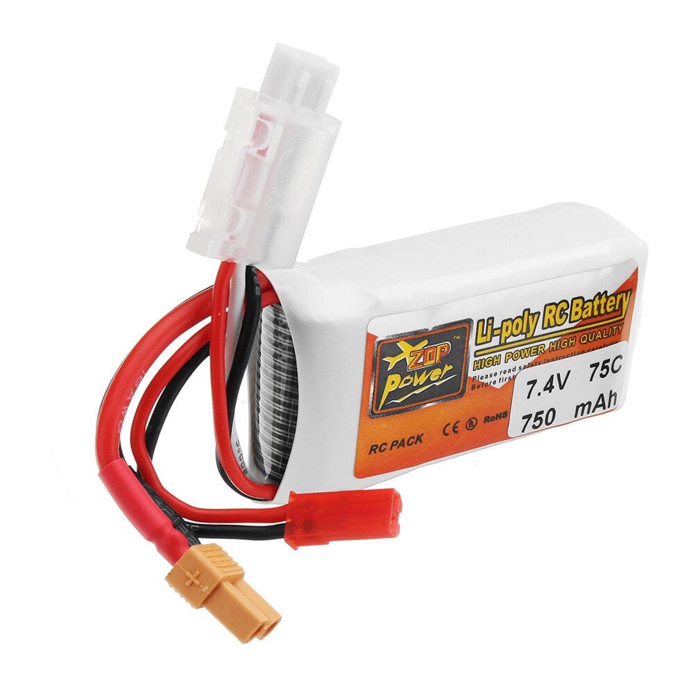 ZOP POWER 7.4V 750mAh 75C 2S Lipo batterij met JST / XT30 stekker - 4