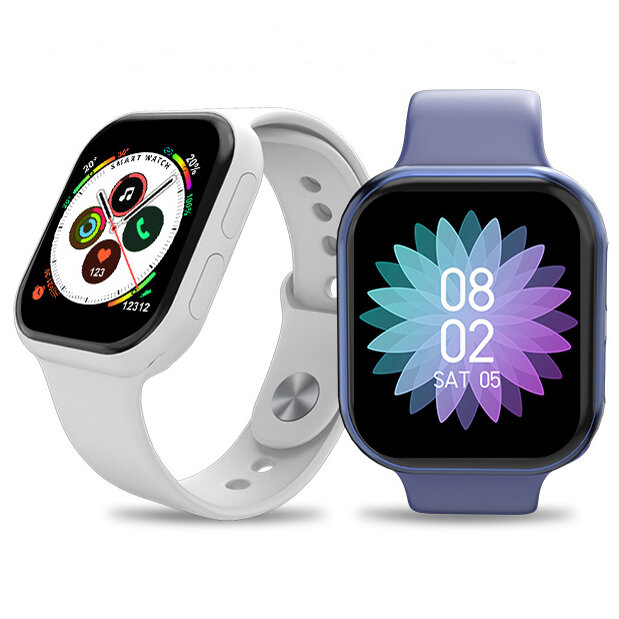 [bluetooth Call]Bakeey Watch 6 1.54 Inch Full Touch Screen 24-hour Heart Rate Blood Pressure Monitor Dual Menu Music Pla