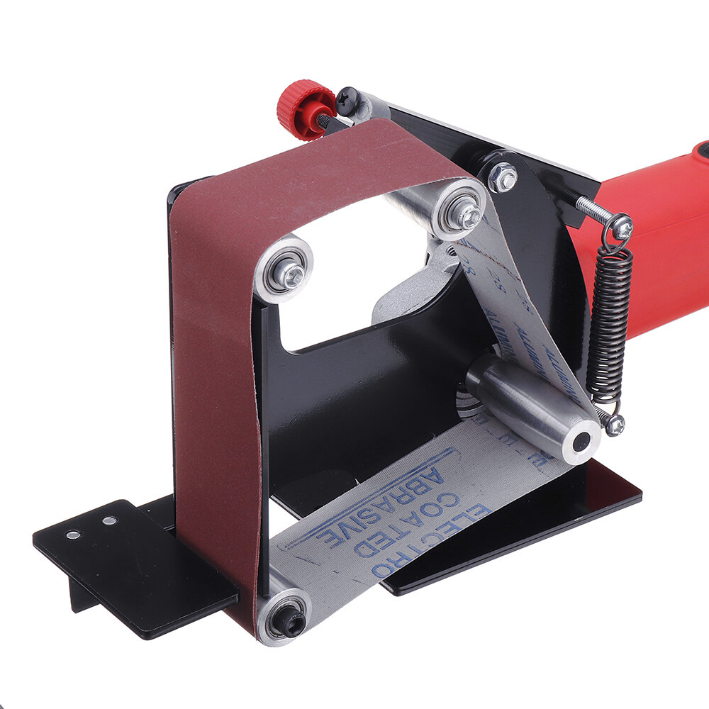 Drillpro Large Size Angle Grinder Belt Sander Attachment 50mm Wide Metal Wood Sanding Belt Adapter for 115 125 Angle Grinder