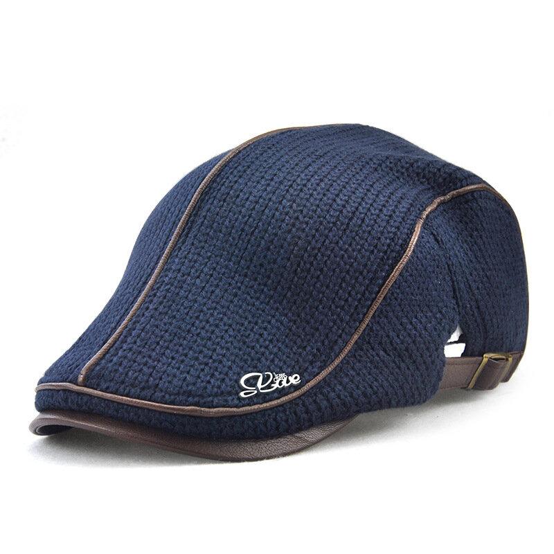 Banggood coupon: Men's Knit Cap Hat Padded Warm Beret Caps Casual Outdoor Visor Forward Hat