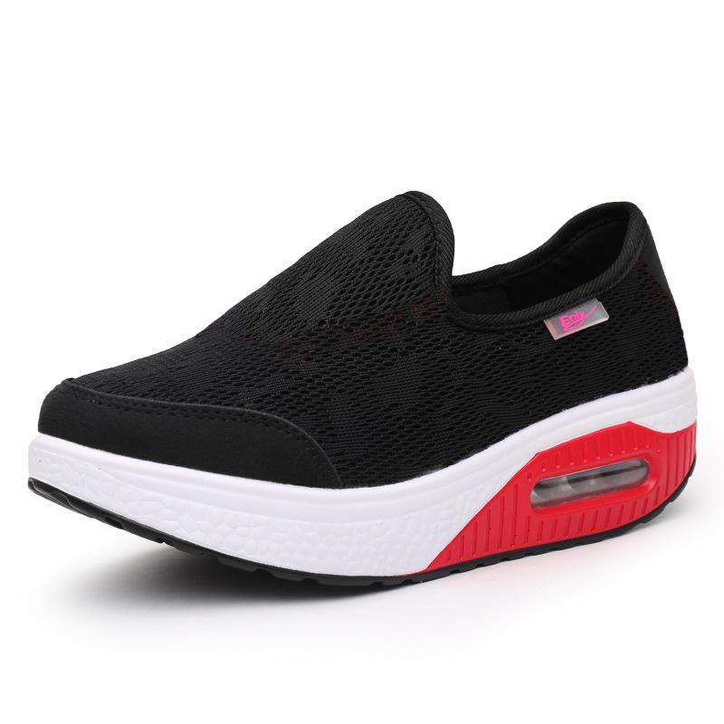 Women Comfortable Mesh Breathable Slip Resistant Sneakers - 4