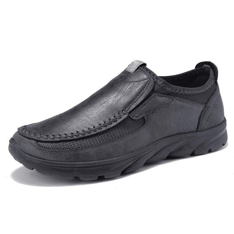 Scarpe da ginnastica impermeabili in pelle da uomo Soft da uomo scarpe da lavoro da passeggio casual da lavoro TORCIA Scarpe - 1