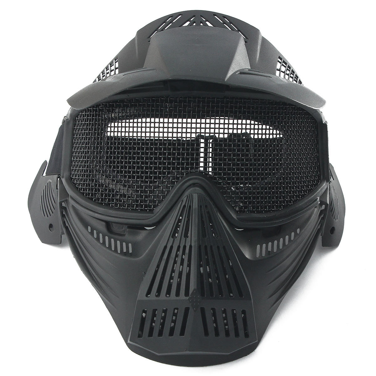 Tactical Airsoft Pro Full Face Mask with Safety Metal Goggles Protection, Banggood  - buy with discount