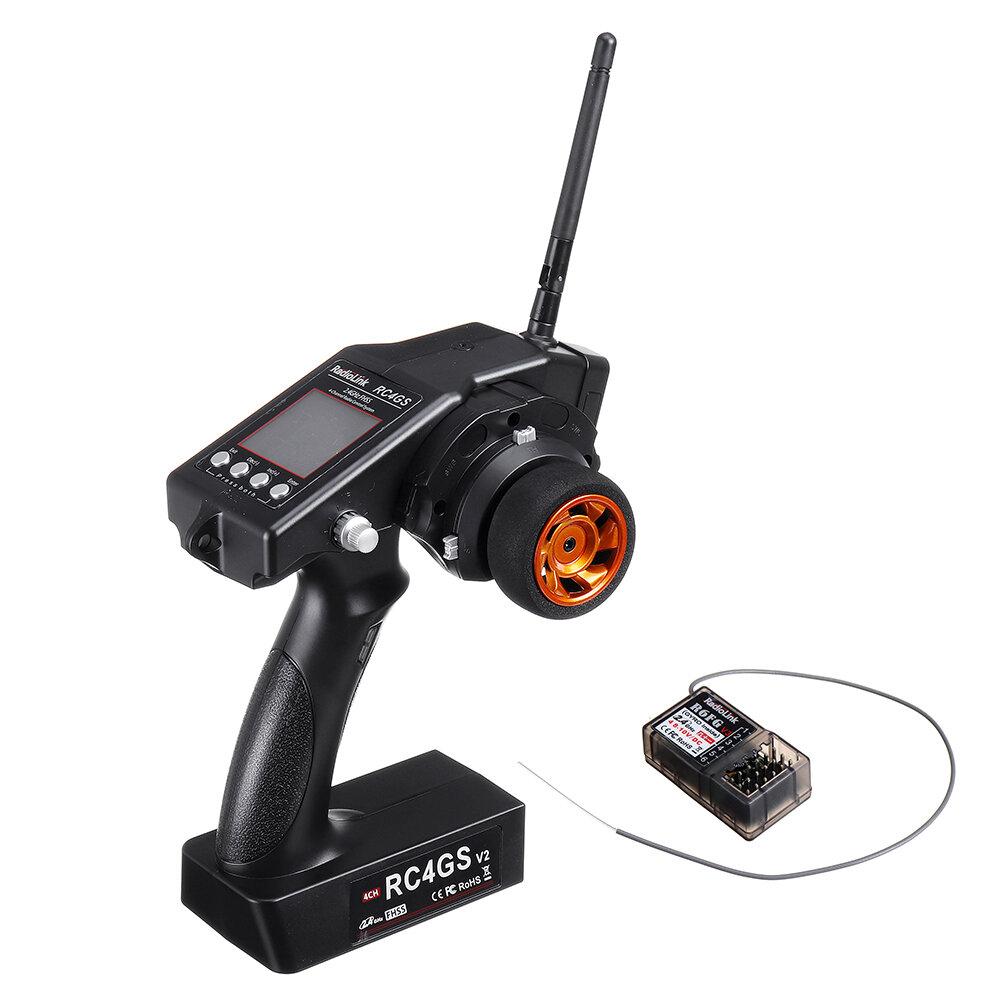 Радиолинк RC4GS V2 2.4G 4CH Передатчик с гироскопом R6FG внутри Приемник для автомобилей RC Авто Модель Лодка