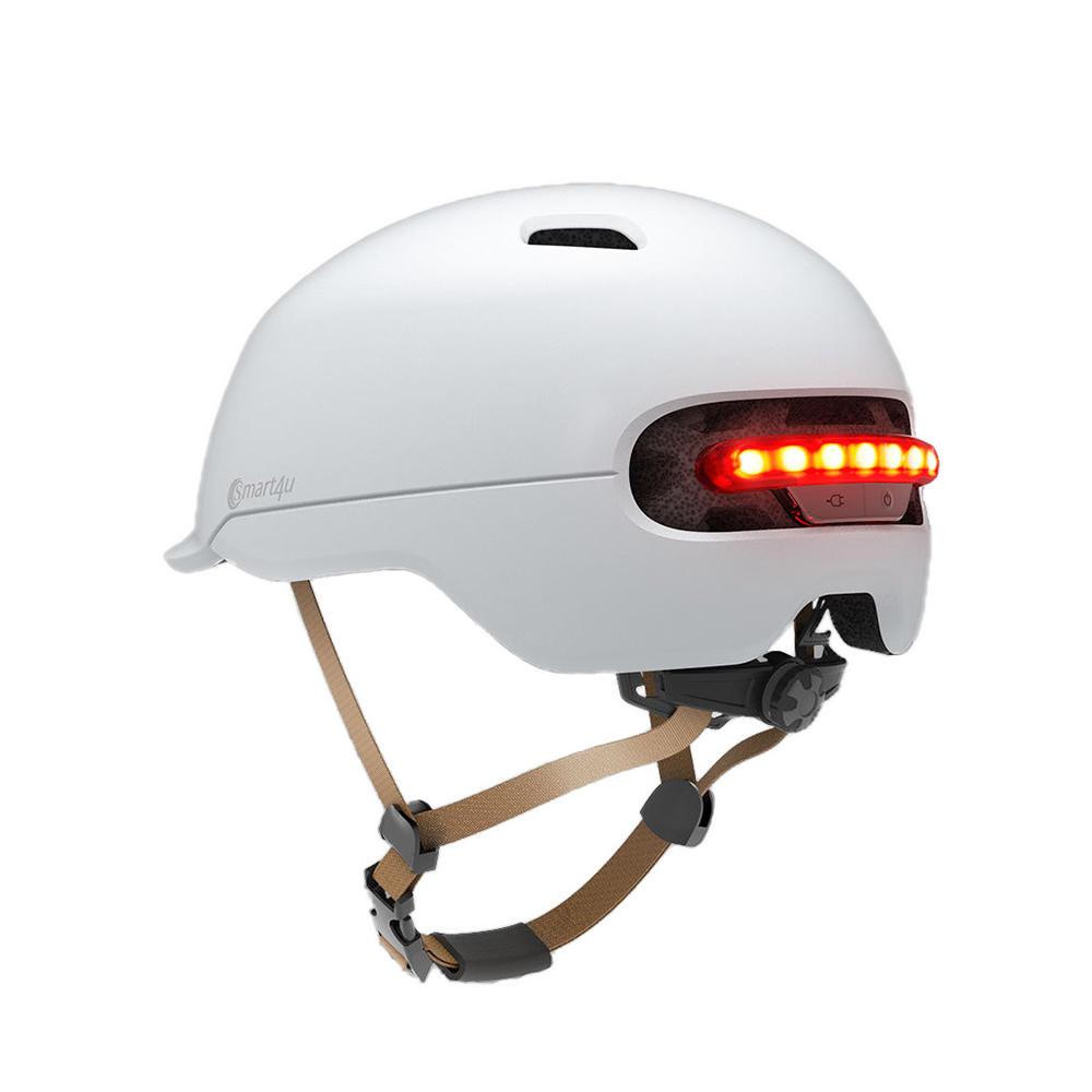 स्मार्ट 4 यू SH50 साइकल चलाना हेलमेट बुद्धिमान वापस एलईडी लाइट ईपीएस समायोज्य सांस वेंटिल