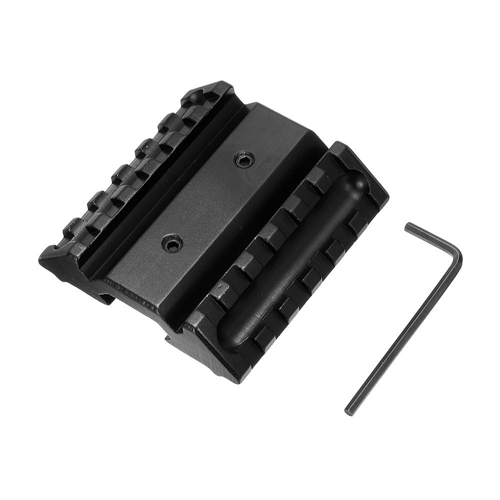 45 Degree Angle Offset Side Picatinny Rail Scope Mount Adapter For Red Green Dot