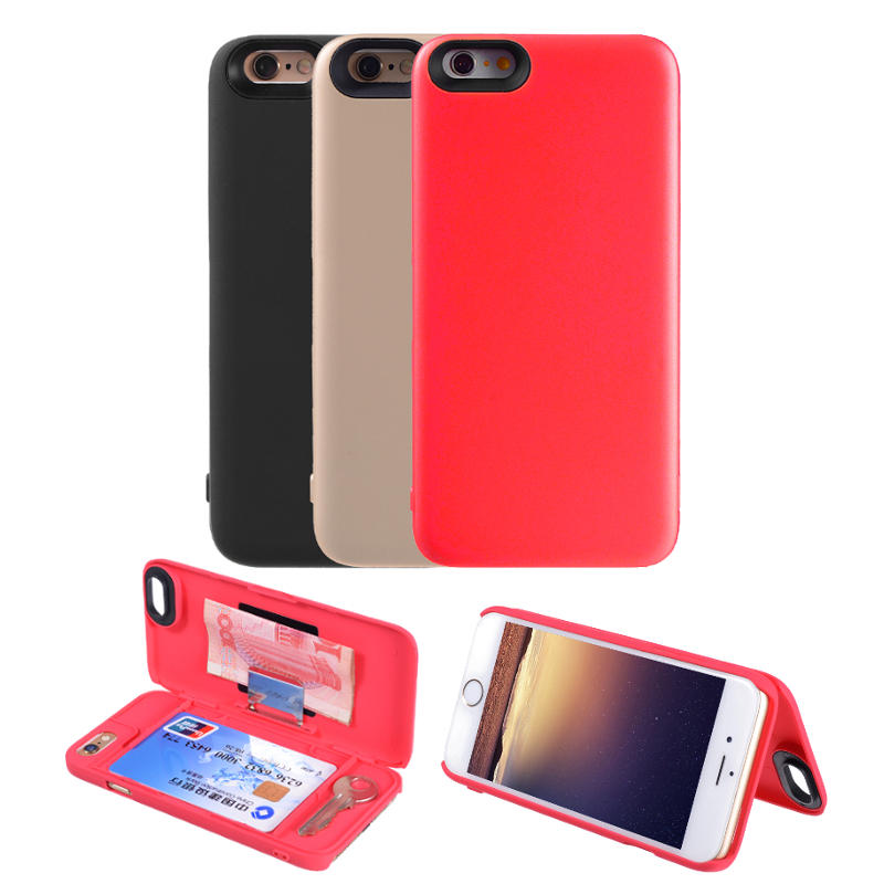 newest eeb74 4d006 Protective Hidden Wallet Case With Card Slot Multifunctional Case Cover For  Apple iPhone 6 6s 4.7 Inches