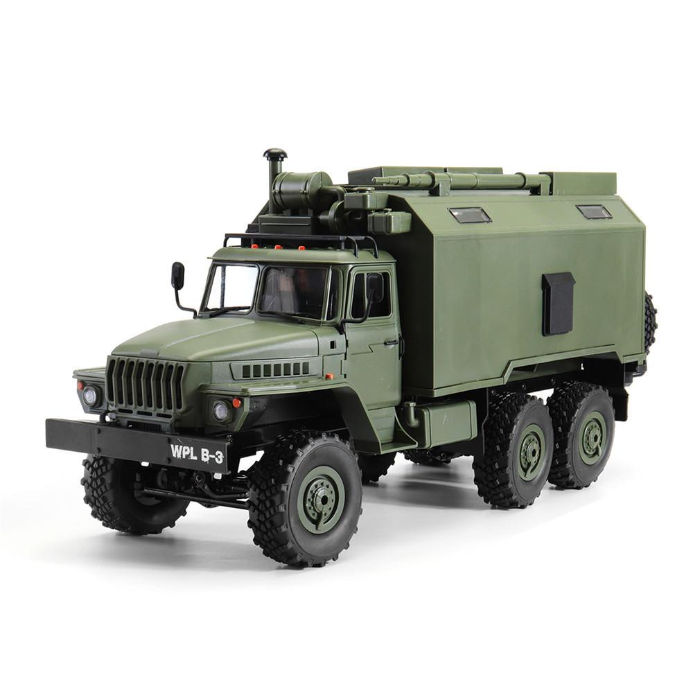 डब्लूपीएल बी 36 उरल 1/16 किट 2.4 जी 6WD आरसी कार सैन्य ट्रक रॉक क्रॉलर कोई ईएससी बैटरी ट्रांसमीटर चार्जर