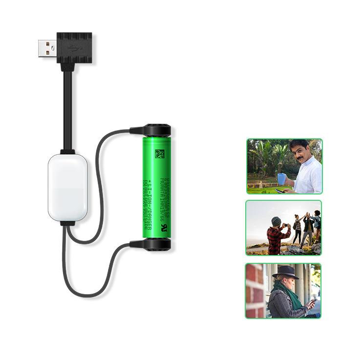 ADEASKA A10 मिनी USB रिचार्जेबल पोर्टेबल चुंबकीय ली-आयन बैटरी चार्जर