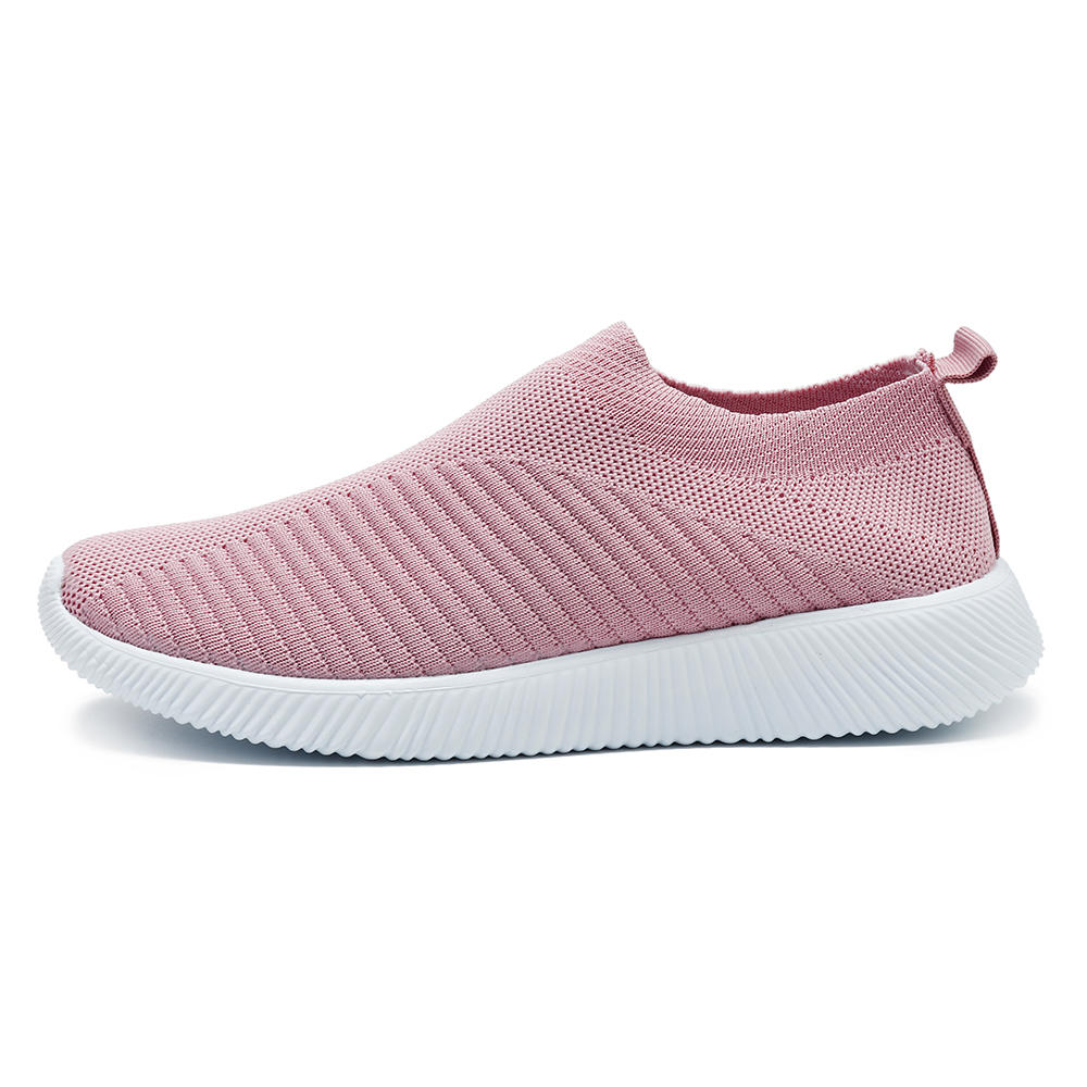 Women Mesh Breathable Slip On Soft Sole Casual Sneakers - 10