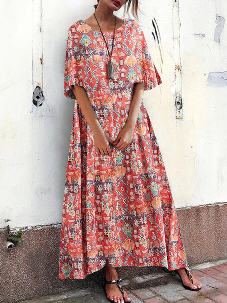 Solid Color V-neck Button Sleeveless Summer Dress - 1