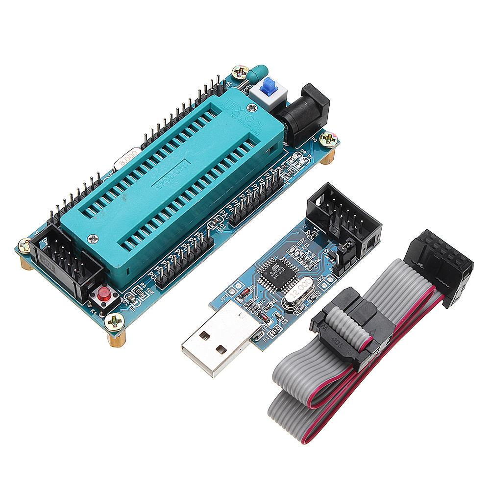 AVR ATMEGA16 Minimum System Development Board ATmega32 + USB ISP USBasp Programmer with Download Cable for ATMEL