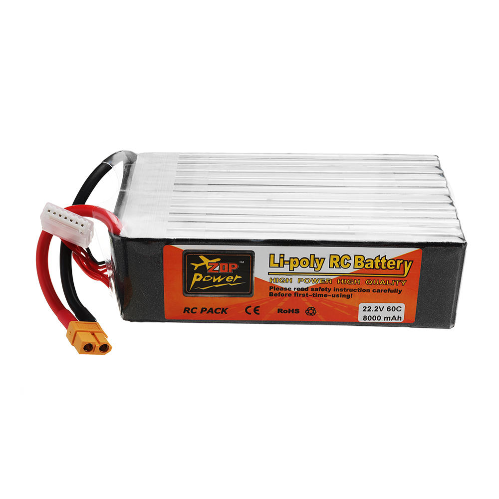 ZOP POWER 22 2V 8000mAh 60C 6S Lipo Battery With XT60 Plug For RC Model