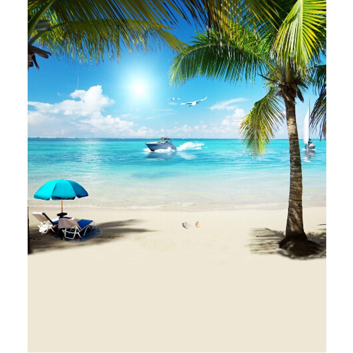 3x5Ft Vinyl Summer Seaside Beach Photography Background Studio Backdrop Prop
