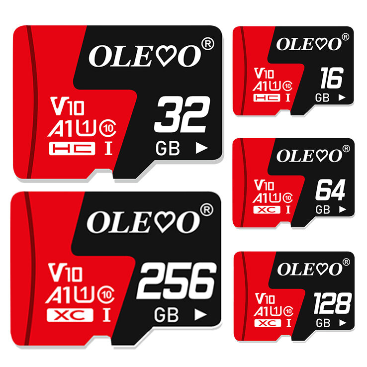 OLEOO Memory Card 16/32/64/128/256GB Class 10 High Speed TF/SD Memory Card For iPhone 12 For Samsung Galaxy S21 Smartpho