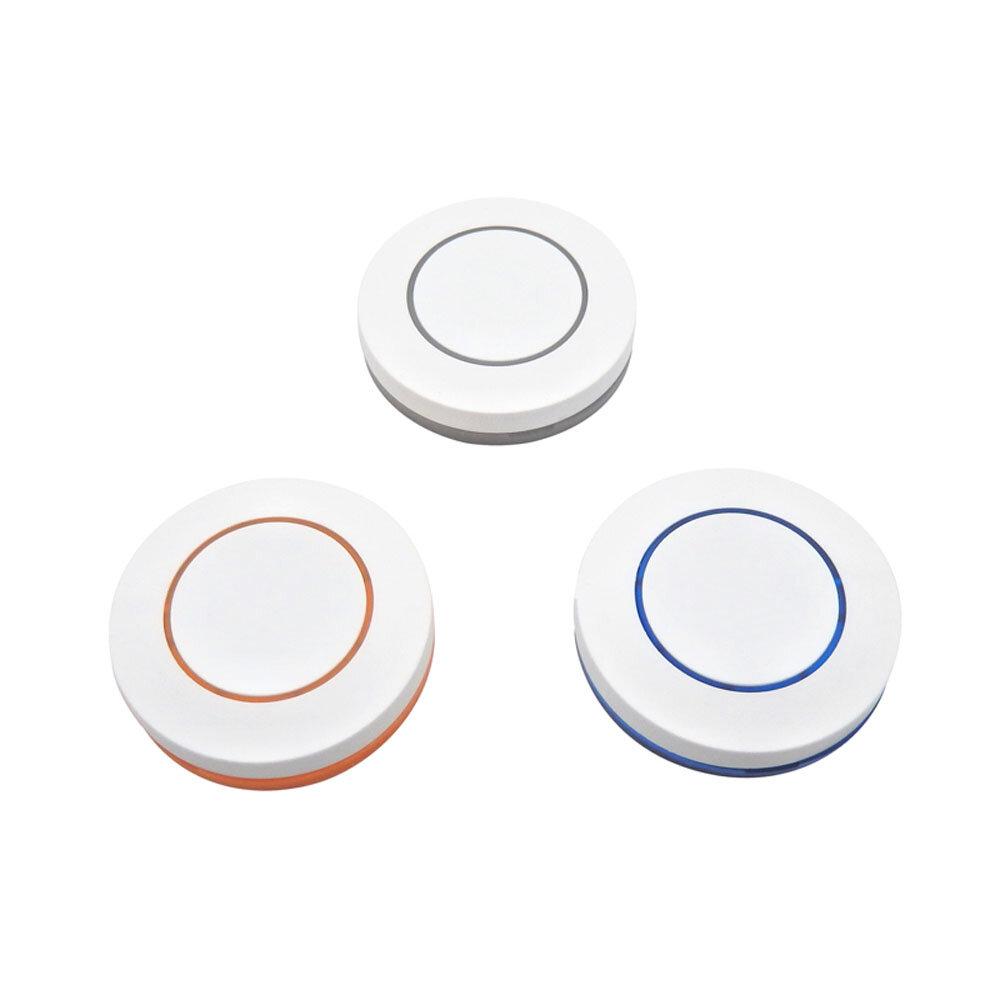 KTNNKG 3V 433Mhz Wireless Remote Control 1 Button Round Remote Control Switch EV1527 Chip Learning Type
