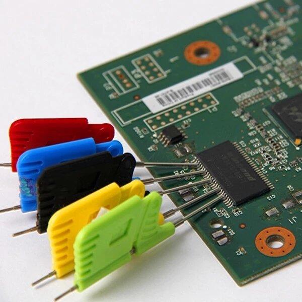 Clipe de teste 10pcs SDK08 Clipes de teste com garras SMD Clip para pés Clip ultra pequeno Microplaqueta de gravação onl