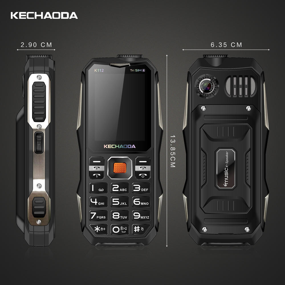 4400mAh Classic Old Retro Vintage Cell Mobile Phone Big Large Volume Dual SIM Tri-band Feature Phone - 8
