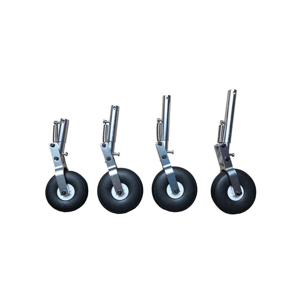 Aluminum Alloy Retractable Landing Gear With Spring for MTD Flying Wing RC Airplane