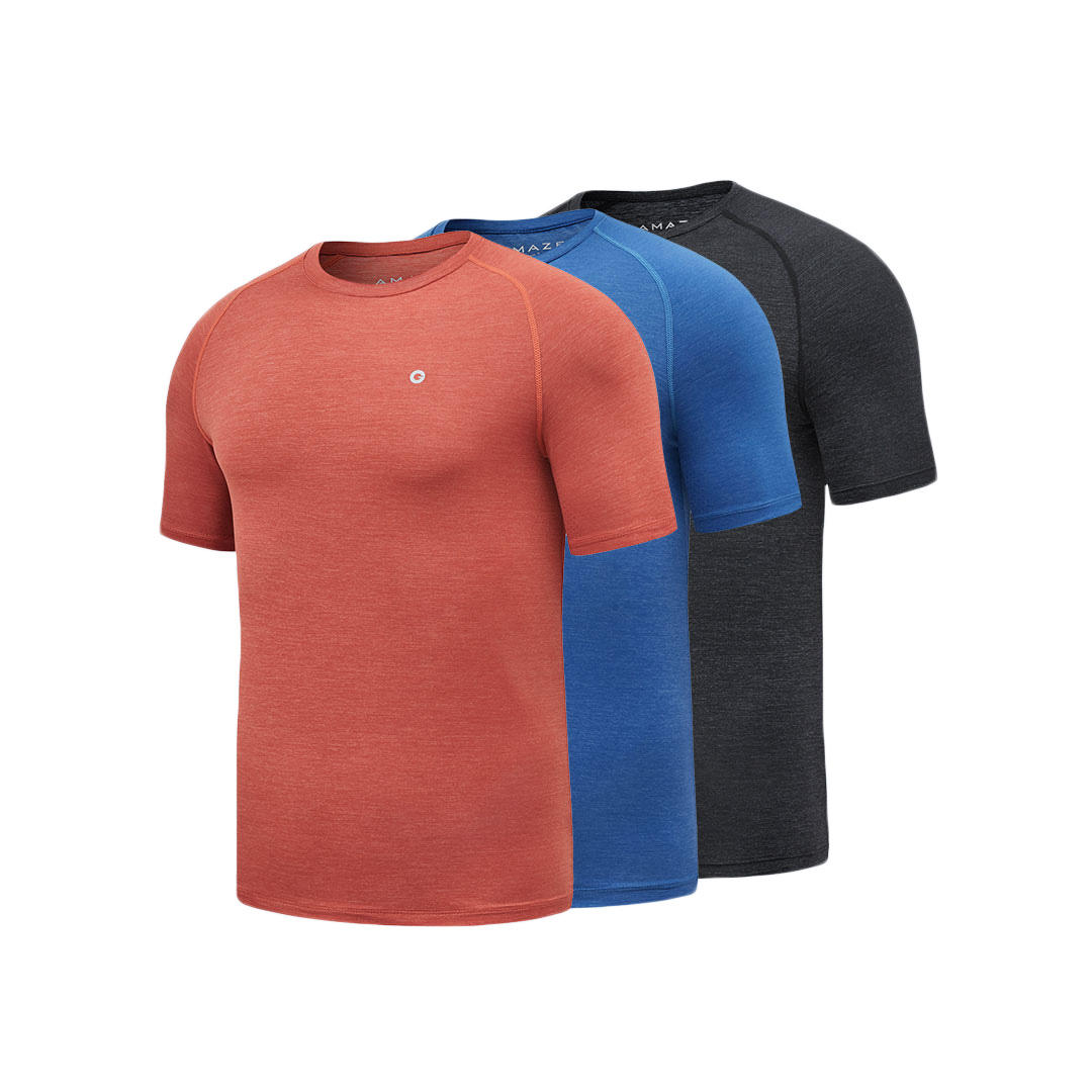 AMAZFIT Sports Quick Drying Man T-Shirts Ultra-thin Durable Breathable Smooth Cool Running T-Shirts From Xiaomi Youpin