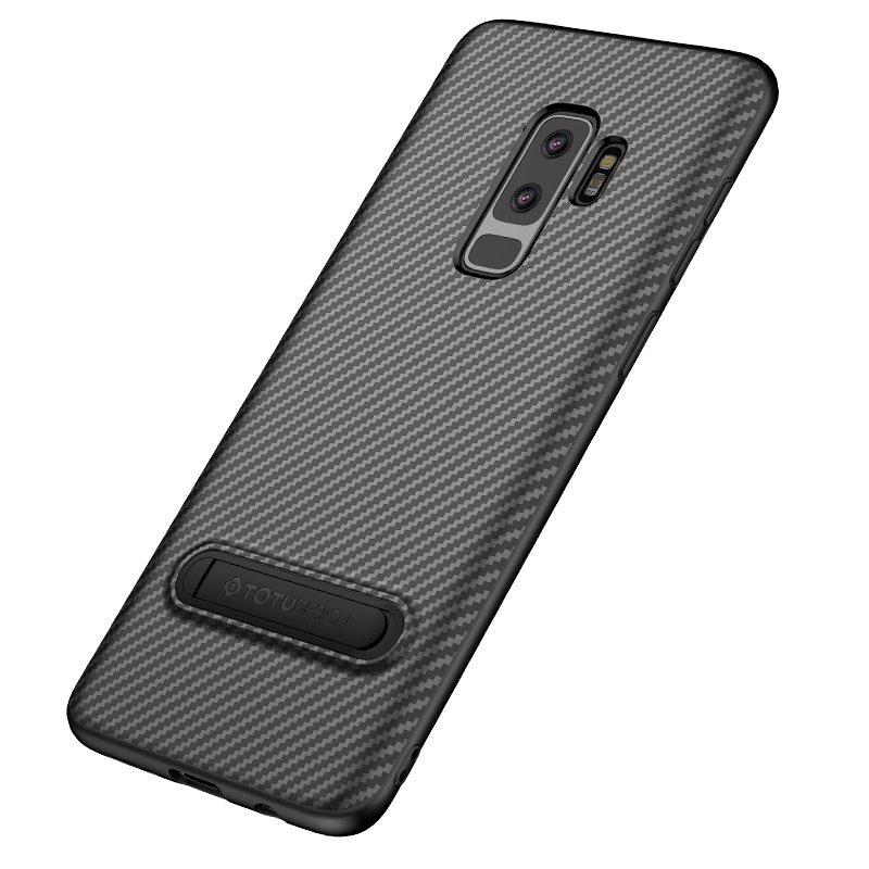 promo code 902db 899a5 Totu Carbon Fiber Kickstand Protective Case For Samsung Galaxy S9/S9 Plus