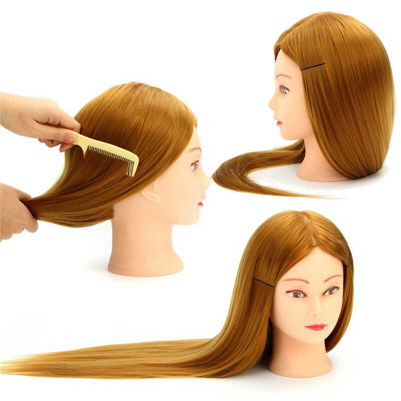 Cosmetology Mannequin Head with Hair for Braiding Cornrow Practice Head Training Mannequin Dummy Heads - 3