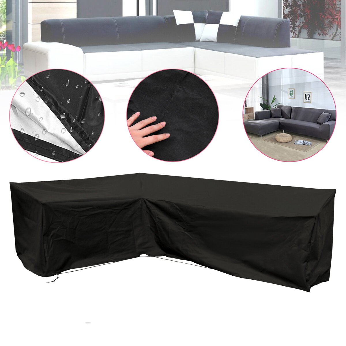 Prime Foldable Garden Furniture Cover L Shape Waterproof Sofa Cover Rain Snow Dustproof Protector Short Links Chair Design For Home Short Linksinfo