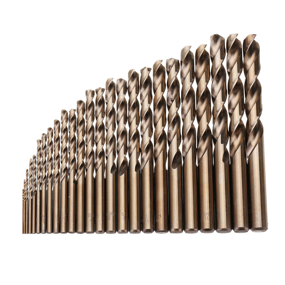 38pcs 1-13mm HSS Twist Drill Bit Titanium Coated Twist Drill - 1