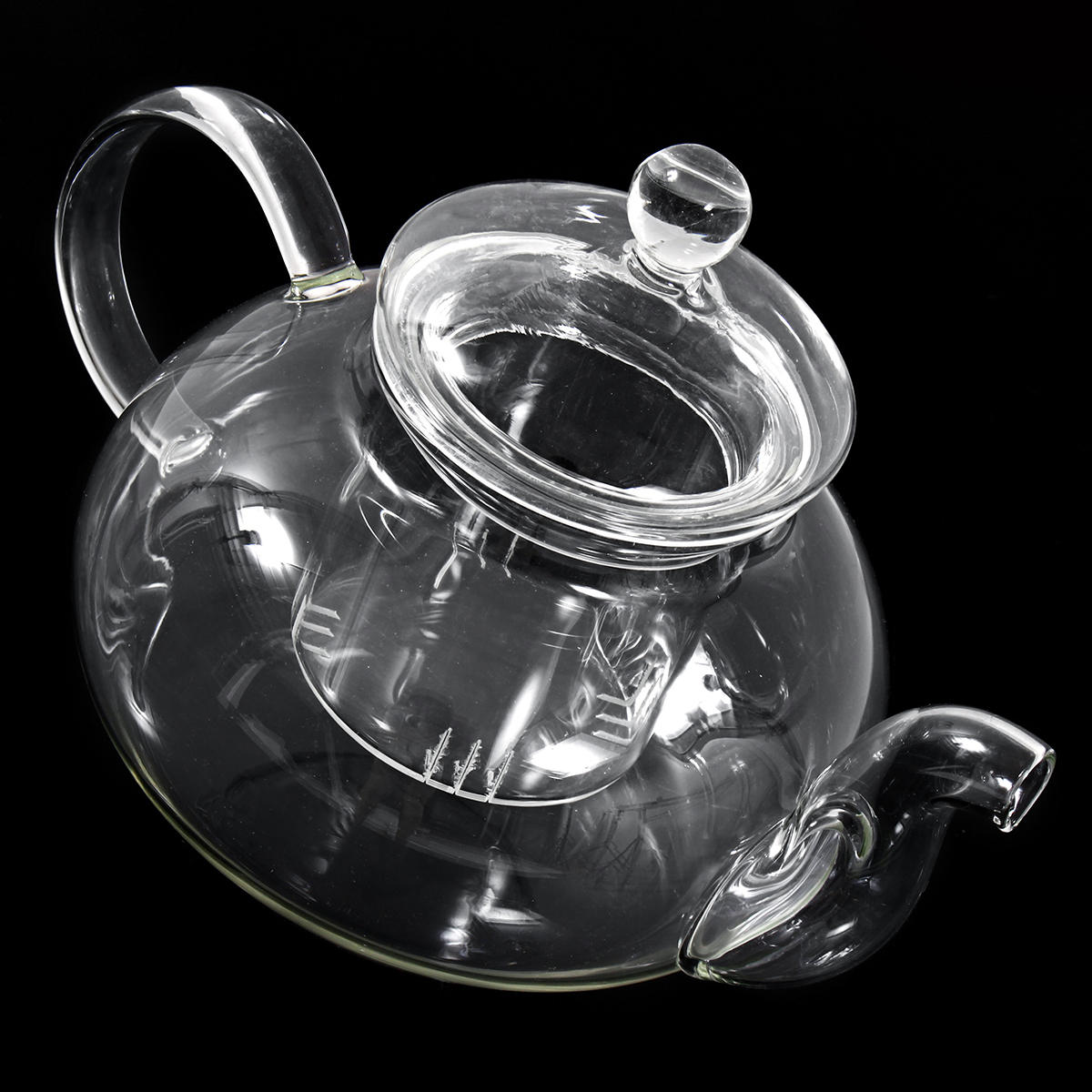 8 Pcs/Set Clear Glass Tea Double Wall Teapot & Cup Filtering Drink Home Decor - 7