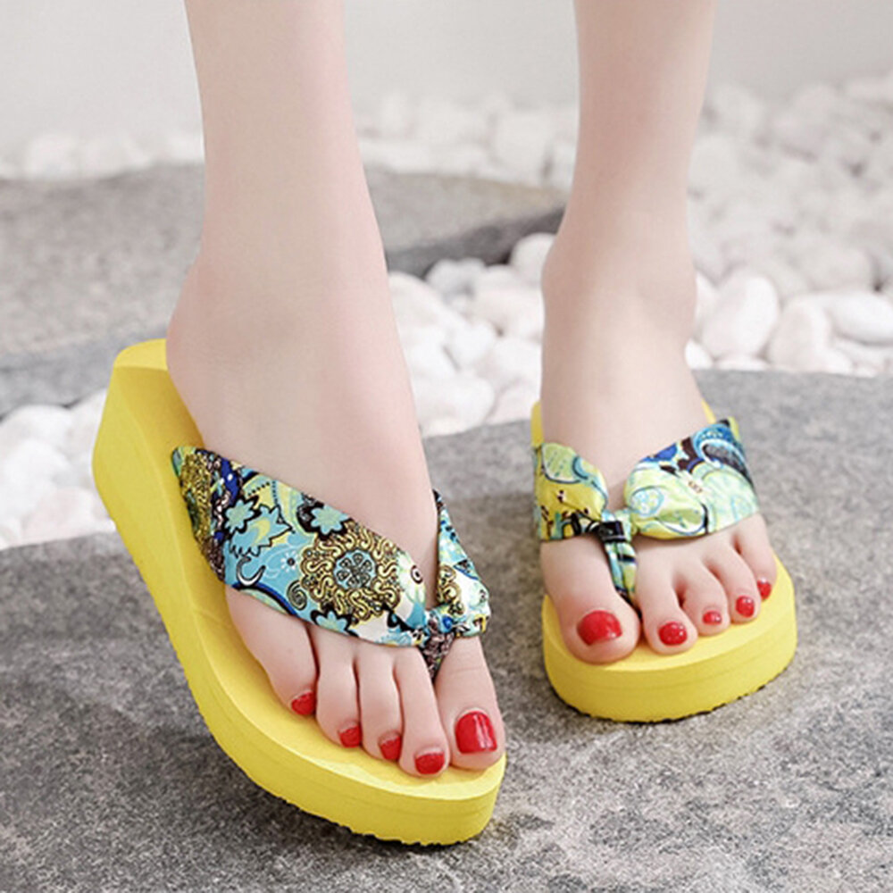 Women Clothes Band Clip Toe Platform Slippers