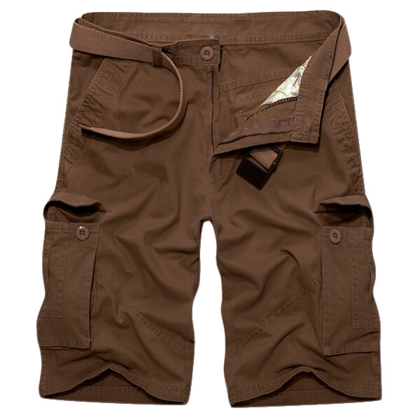 Outdoor Multi-pocket Cotton Cargo Shorts - 12