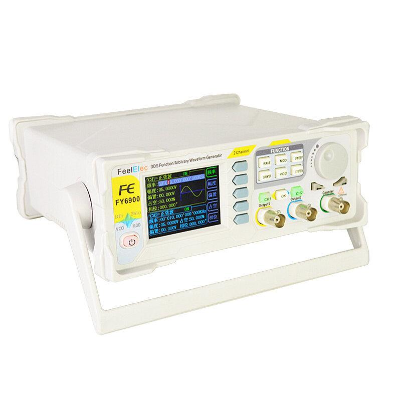 FY6900 Dual Channel DDS Funktion Vilkårlig Waveform Signal Generator Pulssignal Källfrekvensräknare Fullt Numerisk Control 20MHZ / 30MHZ / 50MHZ / 60MHZ