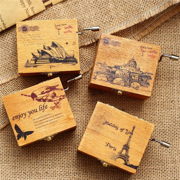 Treadle Sewing Machine Music Box Antique Gift Musical Education Toys Home Decor Fashion Accessories - 1