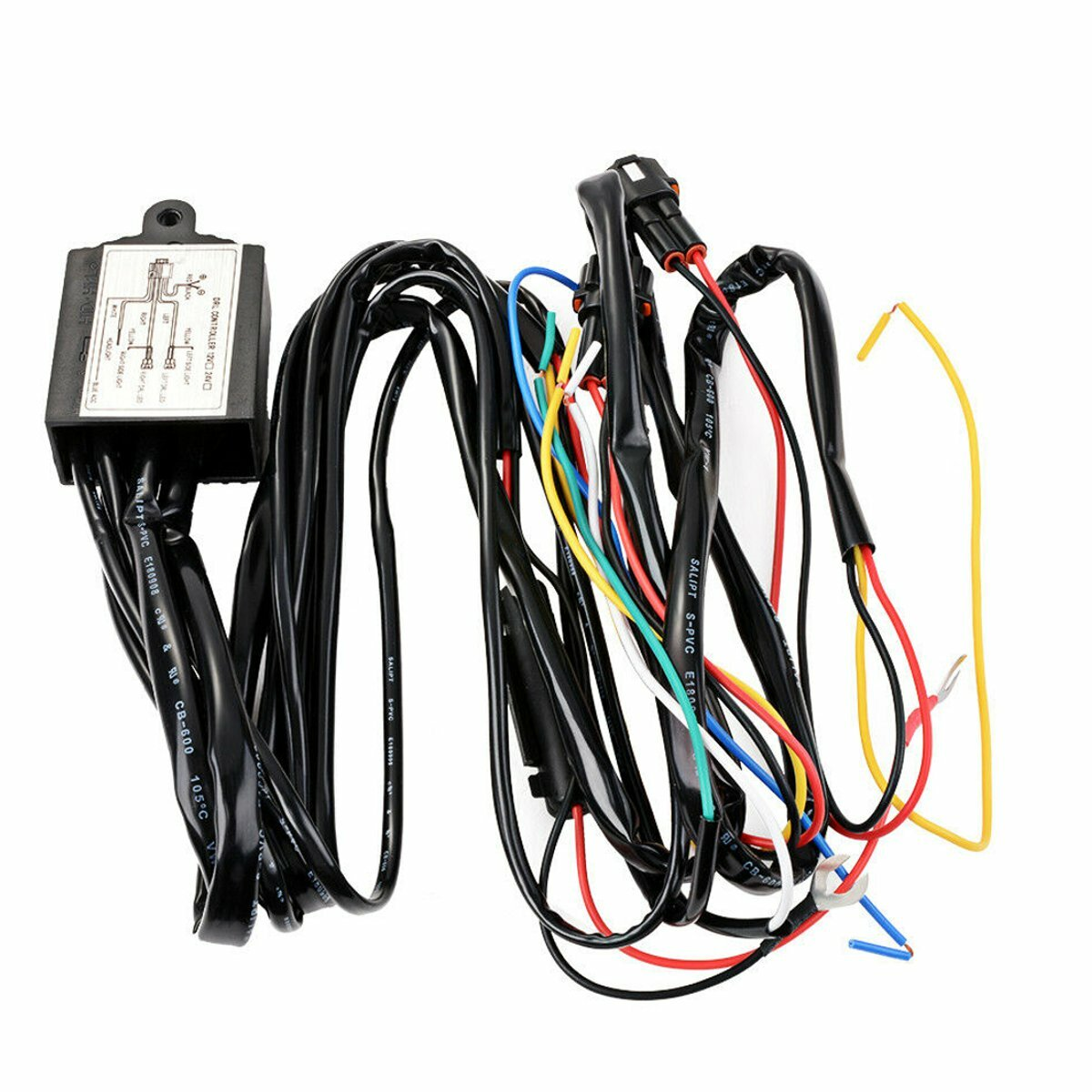 12V DRL Dimmer LED Dæmpningsrelæ Dagtid Løbelygte Auto On / Off Switch Harness Med Flash Slå Signalforsinkelsesfunktion