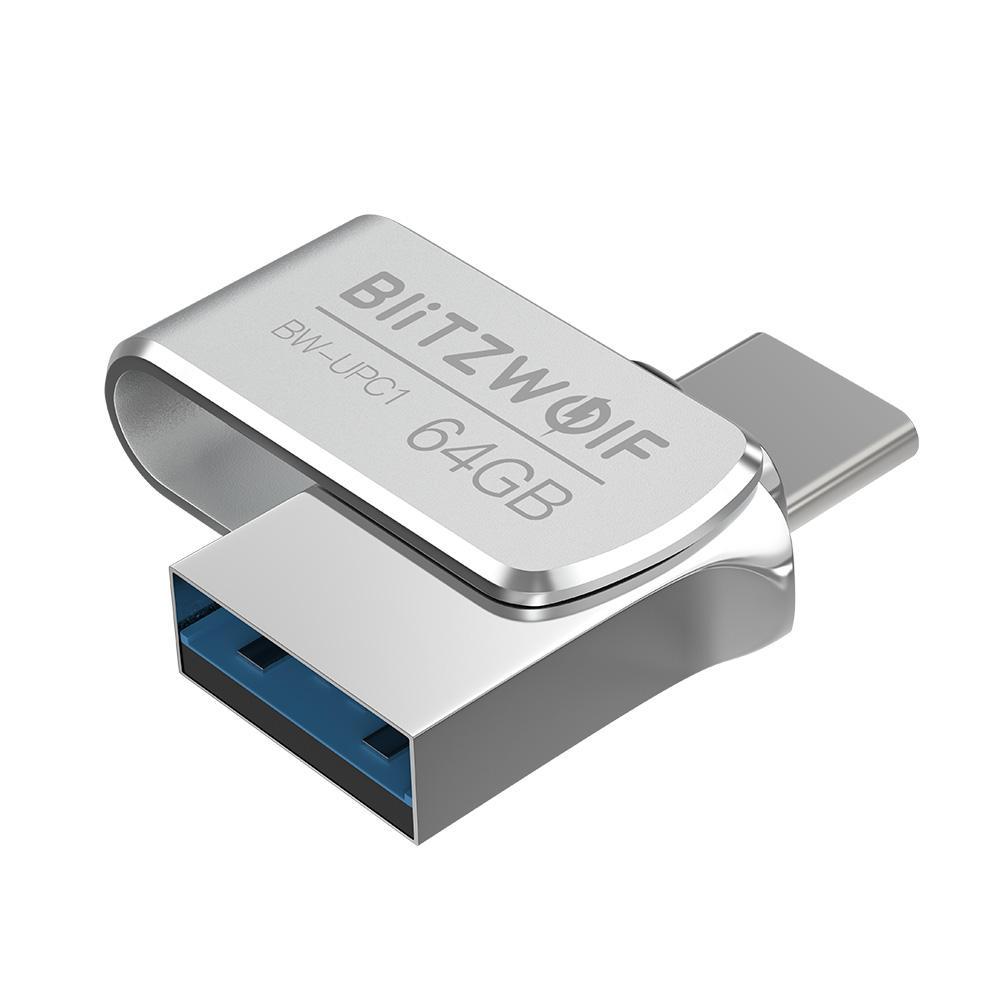 BlitzWolf® BW UPC1 2 в 1 Type C USB 3.0 Алюминиевый сплав 16GB 32GB 64GB OTG USB Flash - 1