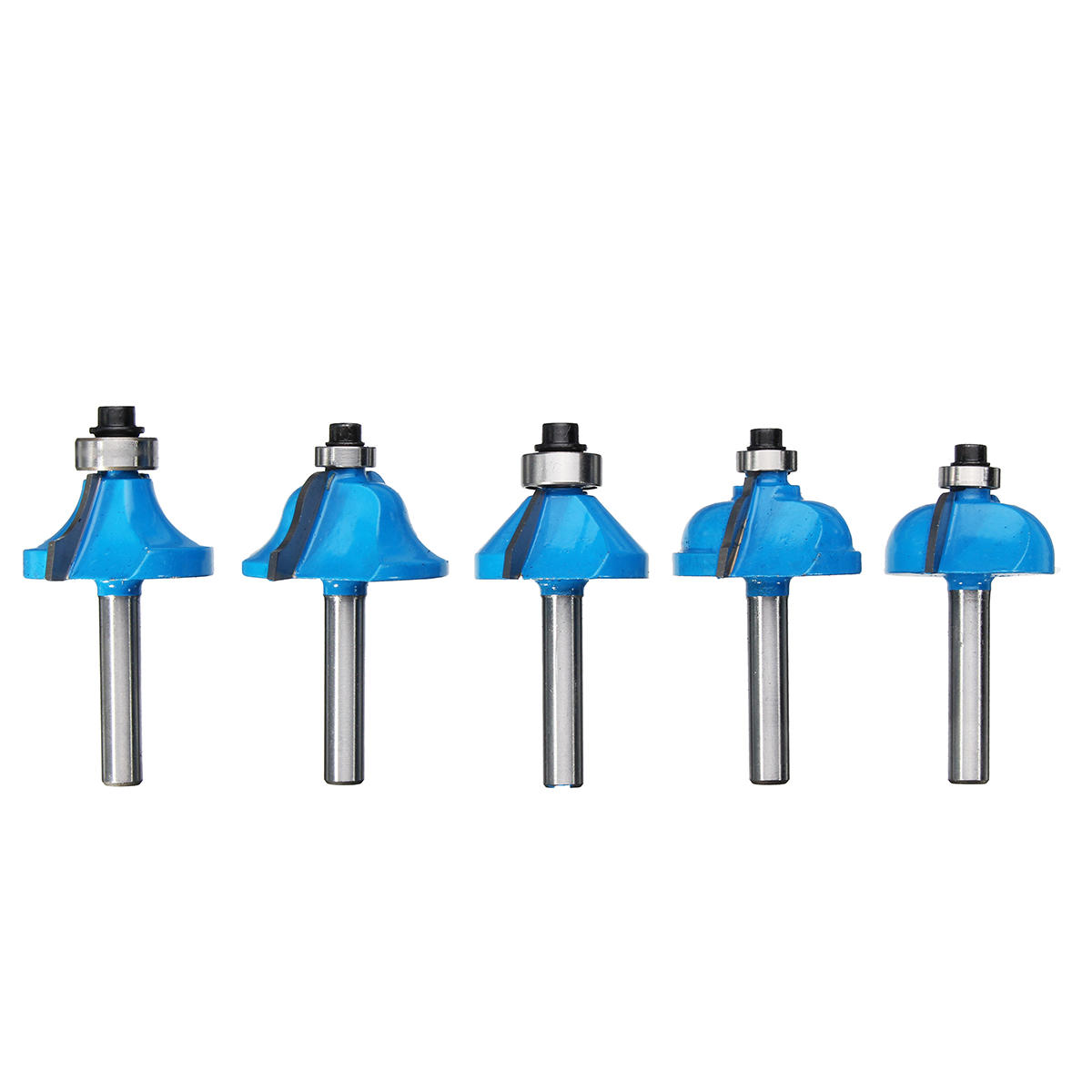 Drillpro RB15 3pcs 1/4 Inch Round Rail Stile Router Bits Wood Working Cutter - 9