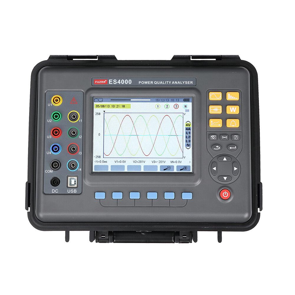 محلل الطاقة ثلاثي الأطوار ES4000 6000A متعدد الوظائف ثلاثي الأطوار القوة محلل الجودة