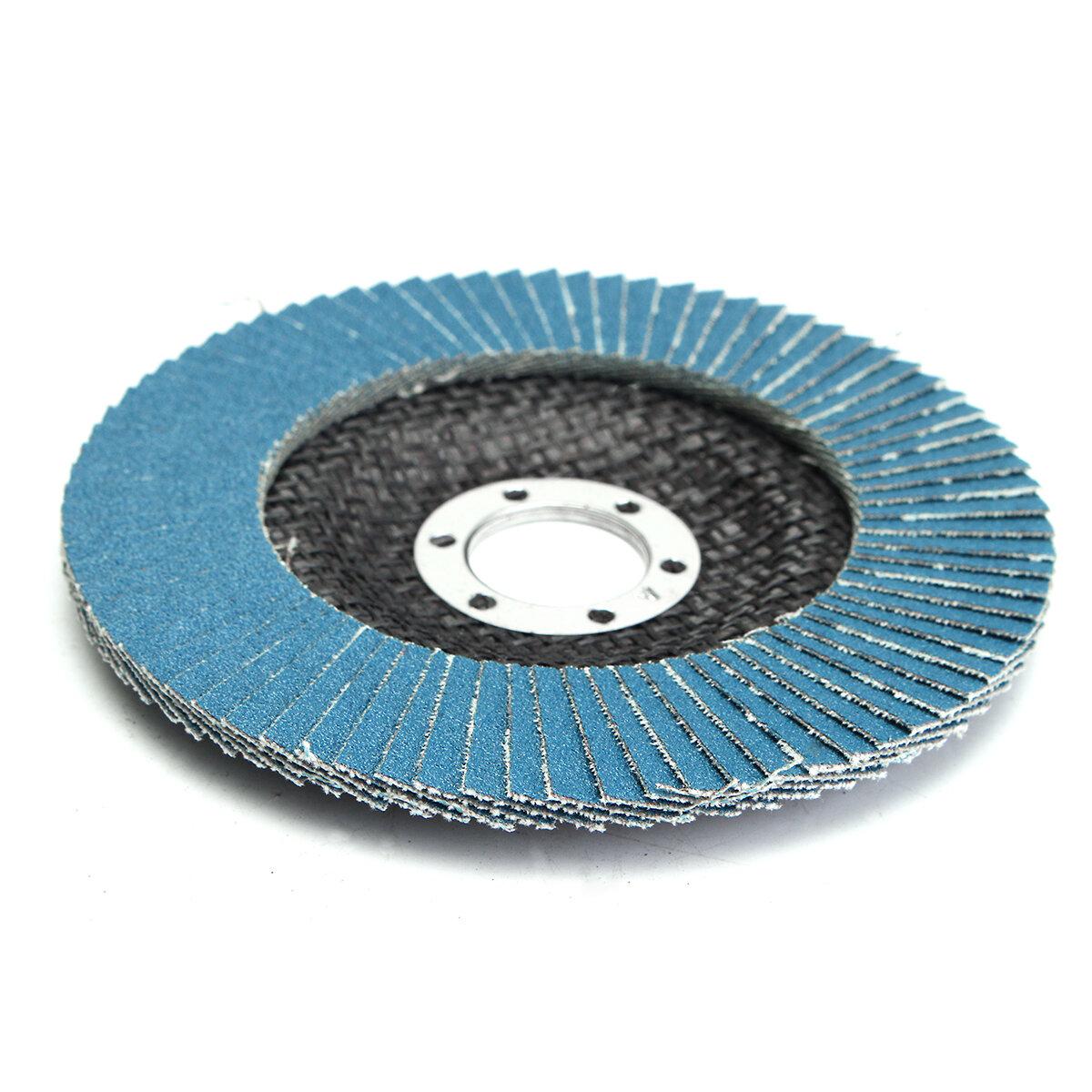 5pcs 100mm rebolo disco aba 120 grit ferramenta de lixamento de 4 polegadas angulado