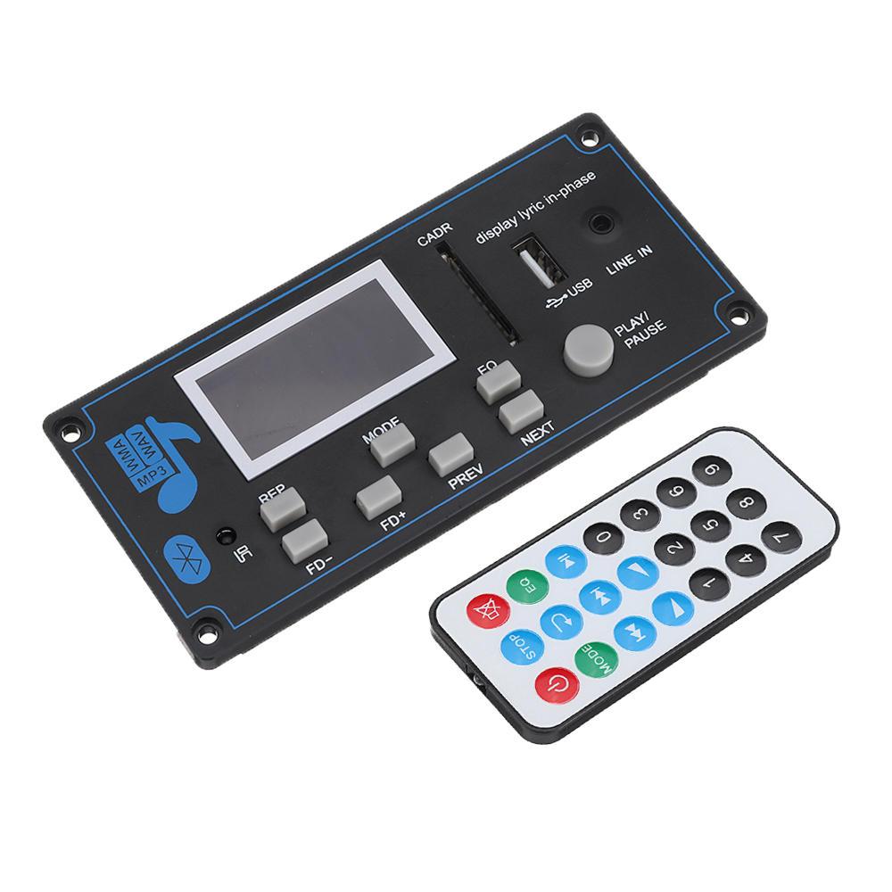 Bluetooth MP3 Audio Decoder Board WMA USB SD FM AUX Decoding Car MP3 Module Lyrics Synchronization DIY Speaker Amp Home Theater