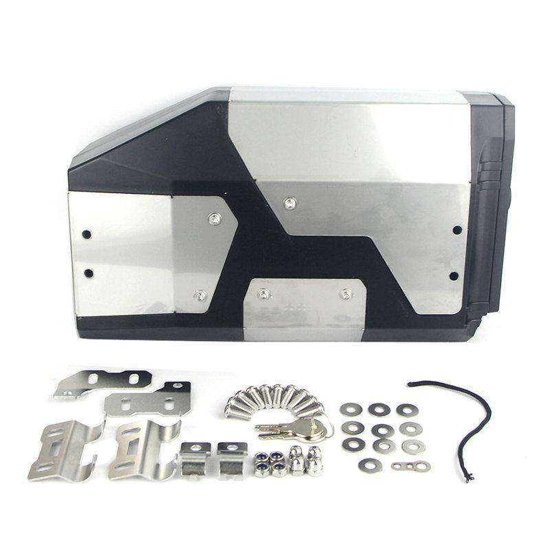 4.2L Motorcycle Stainless Side Tool Box With Bracket For BMW R1200GS R1250GS ADV LC Adventure