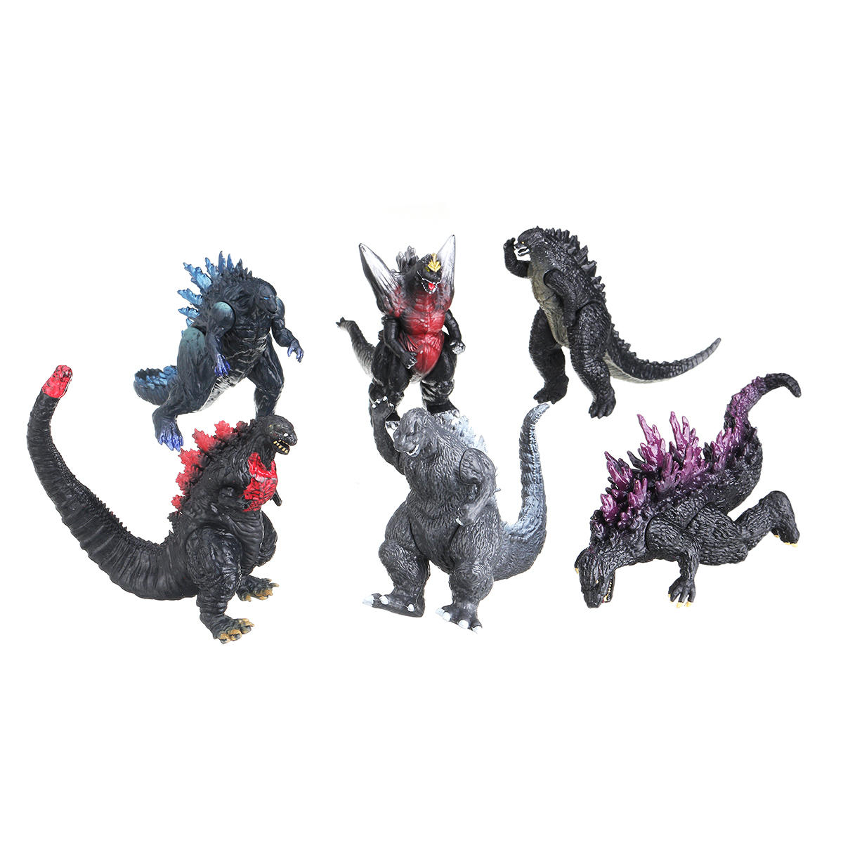 6pcs anime action figure toy dinosauro film monster doll bambini giocattoli di plastica regalo - 12