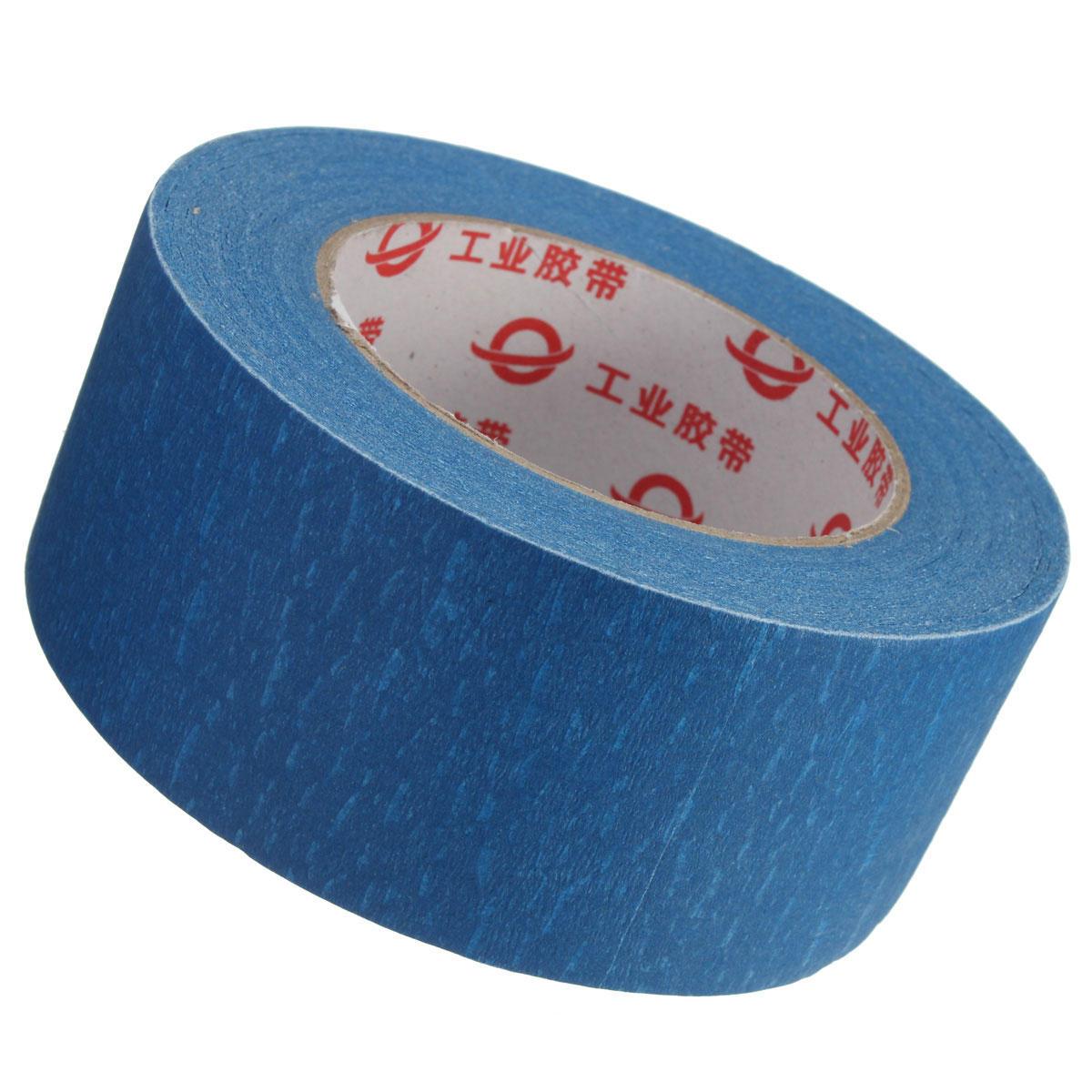 50mmx50m Largeur de 50mm Imprimante 3D Blanche Bande Bleue Bande de Lit de Rechange Bande de Masquage pour les Pièces d'Imprimante 3D