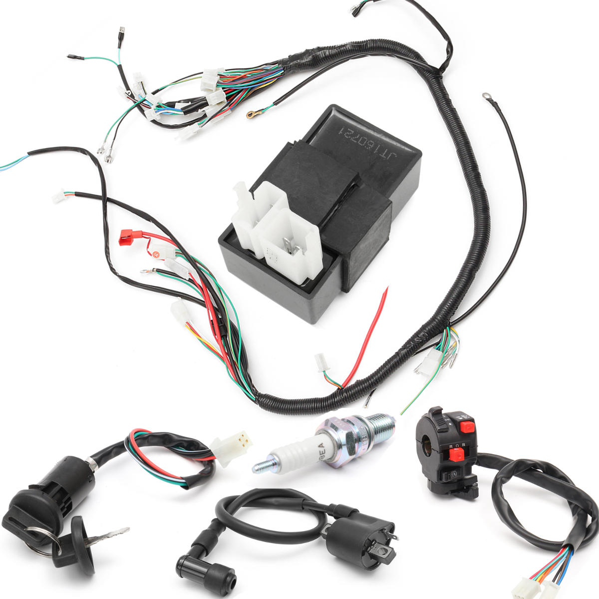 150cc 200cc 250cc Wiring Harness Loom Solenoid Coil