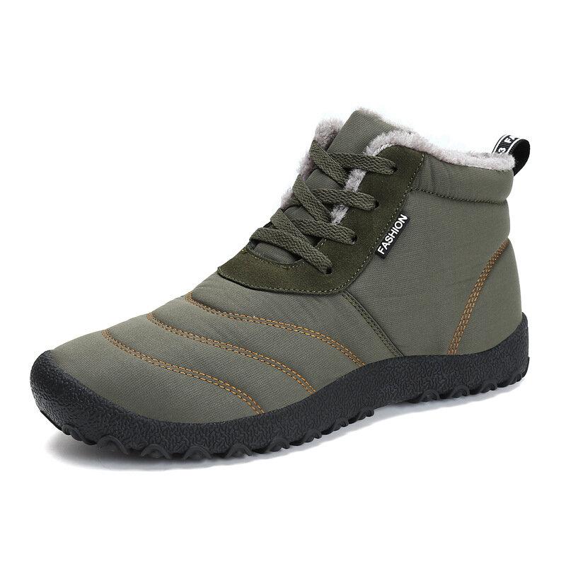 P335 En Plein Air Sport D'hiver Hommes Femmes Cheville Bottes À Lacets Trekking Travailleur Polaire Doublé Chaussures Sneakers - 4