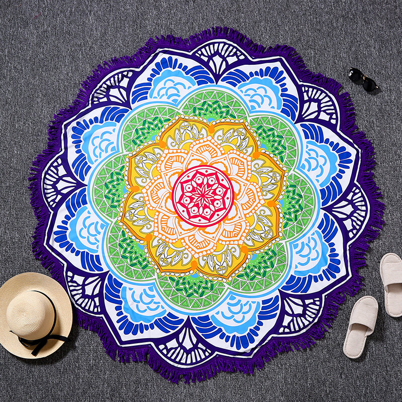 Indian Mandala Elephant Beach Towel Tapestry Wall Hanging Throw Dorm Bedspread Mat Decor - 8