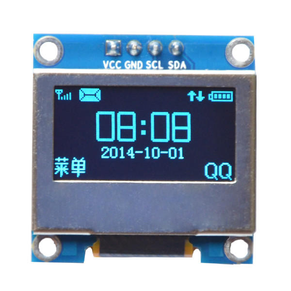 0.96 Inch 4Pin Blue IIC I2C OLED Display With Screen Protection Cover Module Geekcreit for Arduino - products that work with official Arduino boards