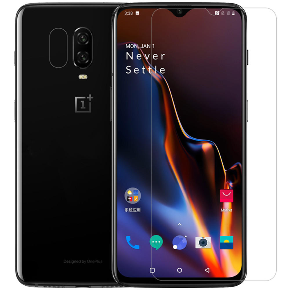 NILLKIN Anti-scratch High Definition Clear Screen Protector + Lens Protective Film for OnePlus 6T/OnePlus 7 фото
