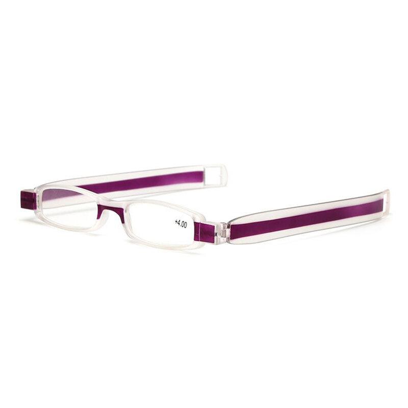360 Degree Rotating Folding Reading Glasses Unisex Mini Reading Glasses With Clothes Hook - 9