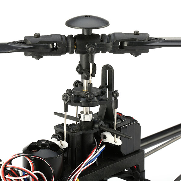 XK K123 6CH Brushless 3D6G System AS350 Scale RC Helicopter Compatible with FUTAB-A S-FHSS 4PCS 3.7V 500MAH Lipo Battery - 5